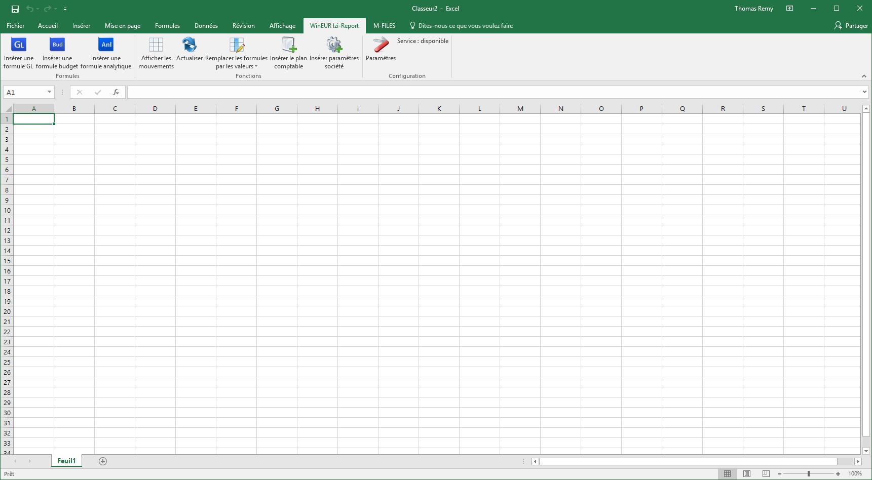 WinEUR IZI-REPORT sous Excel